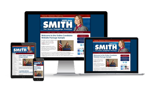 County Representative Campaign Website Design