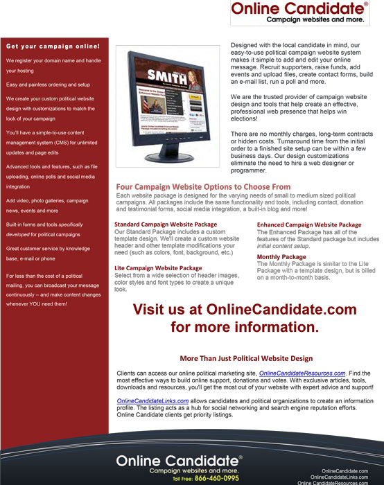 Online Candidate Sales Sheet