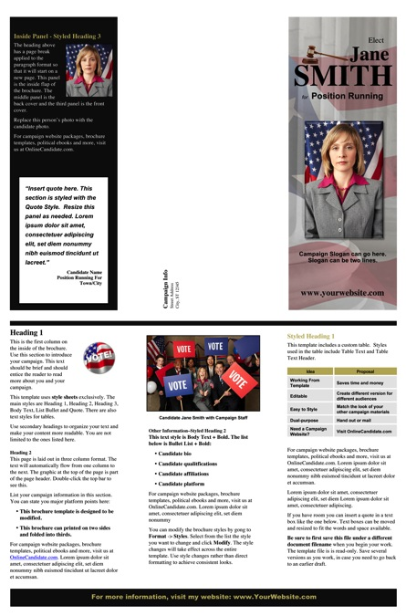 Judges and Judicial Candidate Brochure - Black Theme