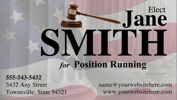 Judges and Judicial Candidate Business Card - Black Theme