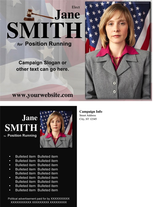 Judges and Judicial Candidate Post Card - Black Theme