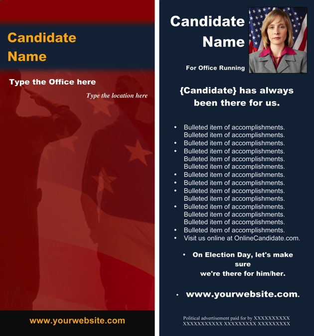 political brochure templates political military print templates red and blue theme