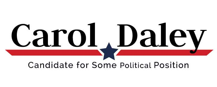 political logo template  u2013 red angled stripe and blue star