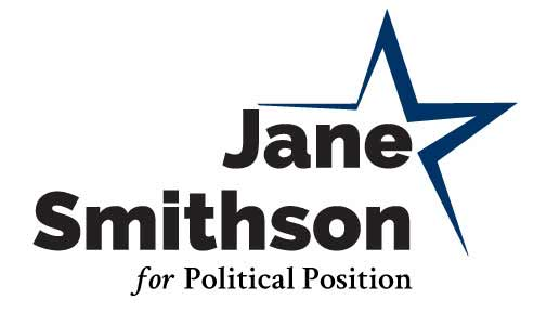 Political Logo Template - Blue Star