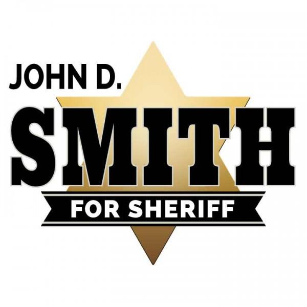 Sheriff Logo - Gold Star Theme