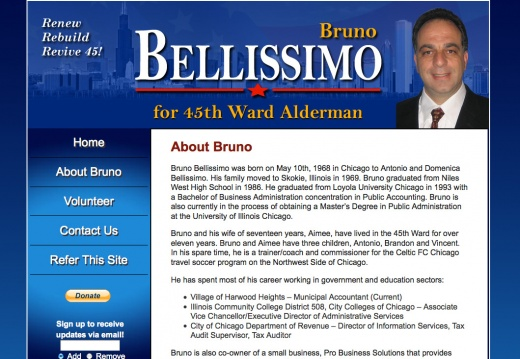 Elect Bruno Bellissimo for Chicago 45th Ward Alderman Campaign Website