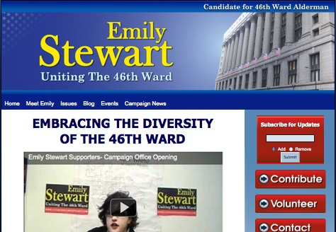 Emily Stewart for Chicago 46th Ward Alderman 2011 Election