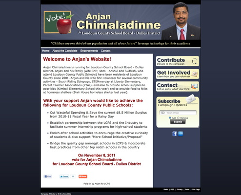 Anjan Chimaladinne for Loudoun County School Board - Dulles District