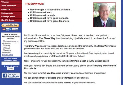 Chuck Shaw - Palm Beach County School Board Election