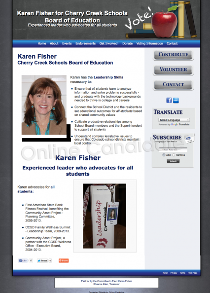 Karen Fisher for Cherry Creek Schools Board of Education.png