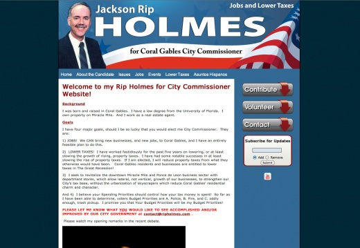 Rip Holmes for Coral Gables City Commissioner