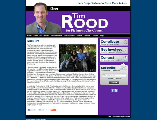 Tim Rood for Piedmont City Council