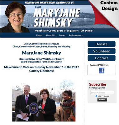 MaryJane Shimsky Westchester County Board of Legislators 12th District