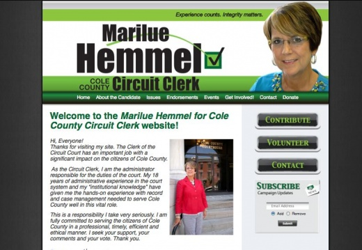 Marilue Hemmel for Cole County Circuit Clerk