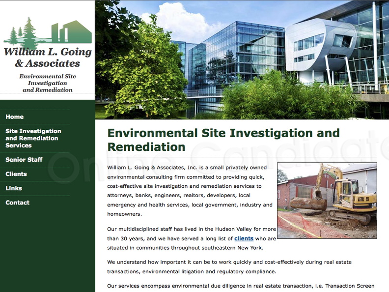 William L Going & Associates Environmental Site Investigation and Remediation