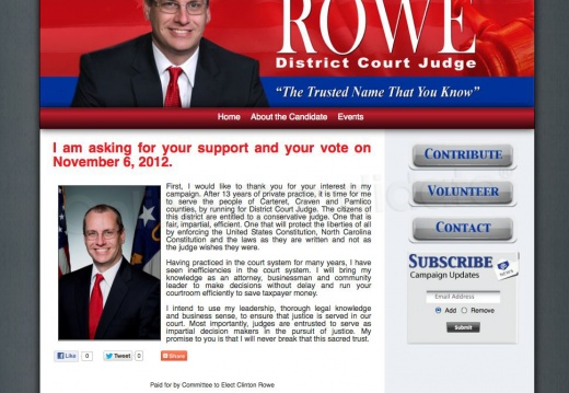 Clinton Rowe for District Court Judge