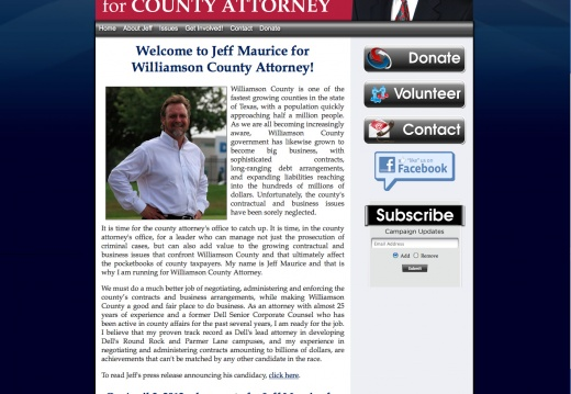 Jeff Maurice for Williamson County Attorney