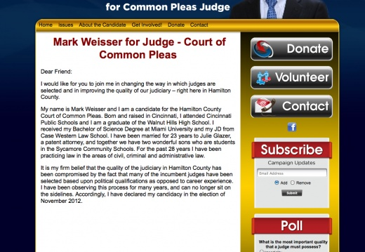 Mark Weisser for Hamilton County Court of Common Pleas