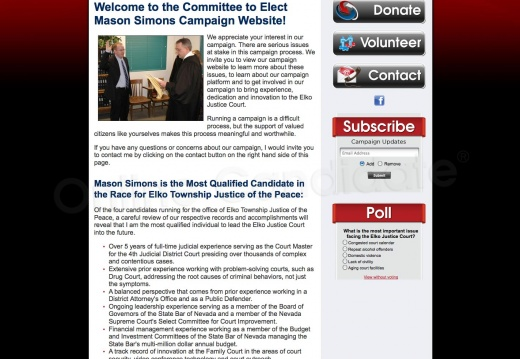 Mason Simons for Elko Township Justice of the Peace