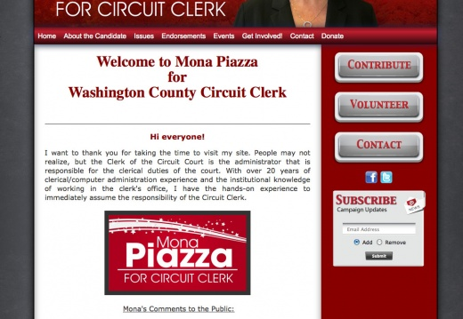 Mona Piazza for Washington County Circuit Clerk