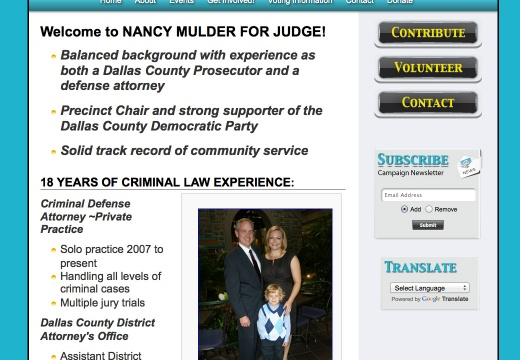 Nancy Mulder for Judge