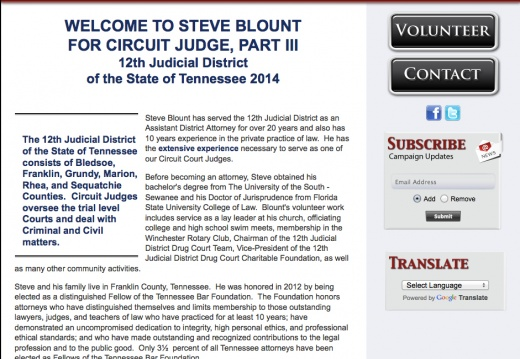 Steve Blount for Circuit Court Judge, Part III  12th