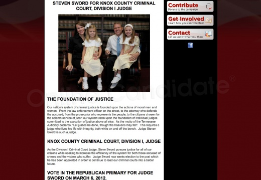 Steven Sword for Knox County Criminal Court Division 1 Judge