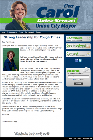 Carol Dutra-Vernaci for Union City Mayor.png
