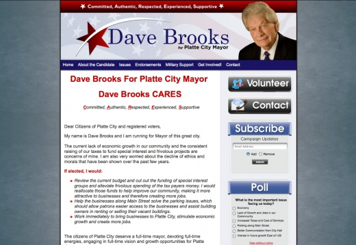 Dave Brooks for Platte City Mayor