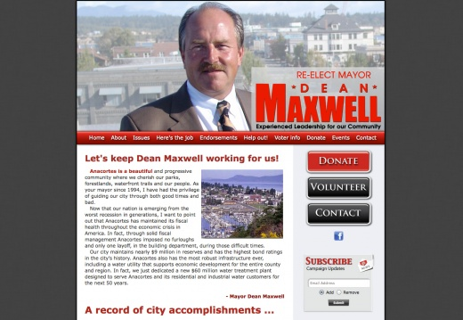 Dean Maxwell for Anacortes Mayor
