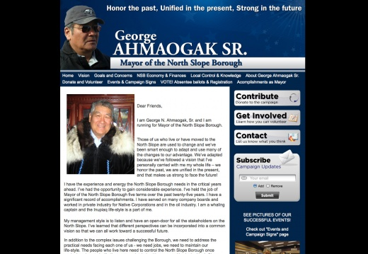 George Ahmaogak for Mayor of North Slope Borough