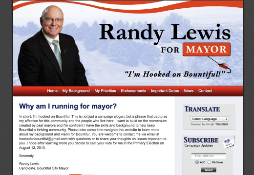 Randy Lewis for Bountiful City Mayor