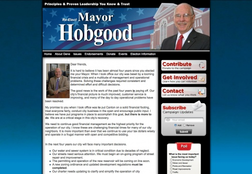 Re-Elect Canton Mayor Gene Hobgood
