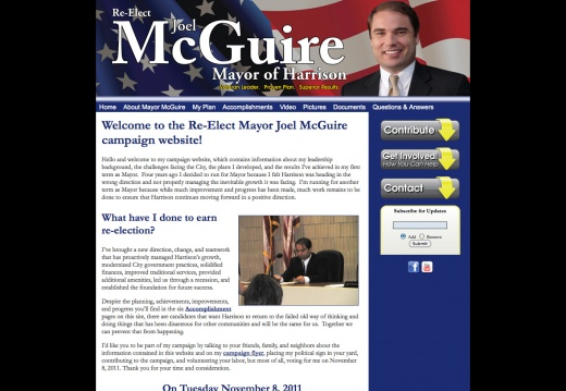 Re-Elect Mayor Joel McGuire