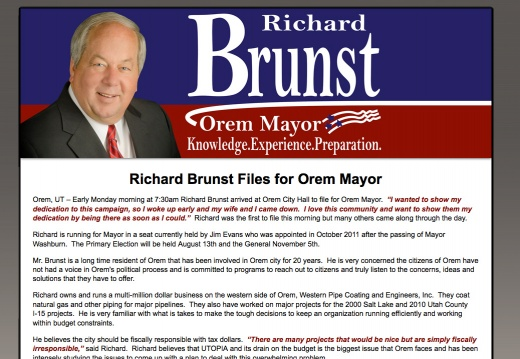 Richard Brunst for Orem Mayor