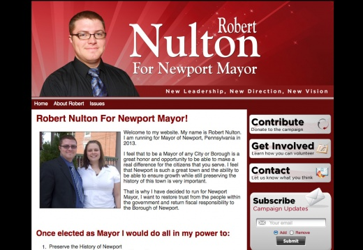 Robert Nulton for Newport Mayor