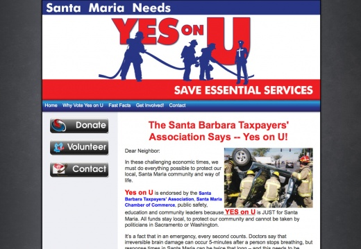 Santa Barbara Taxpayers\' Association Says -- Yes on U!