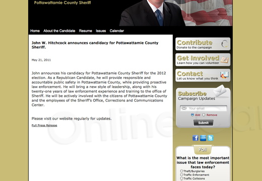 John Hitchcock for Potawattamie County Sheriff