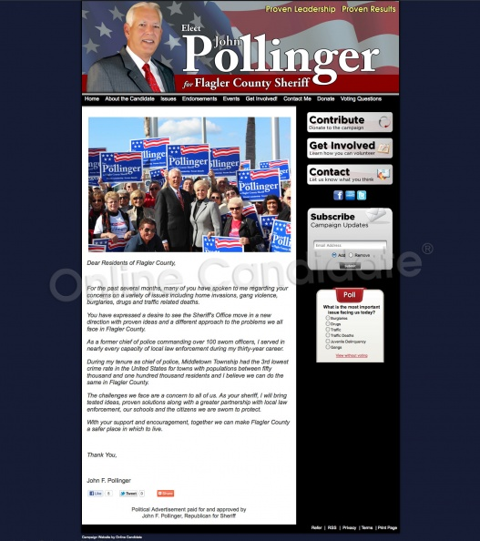 John Pollinger for Flagler County Sheriff | Campaign Website