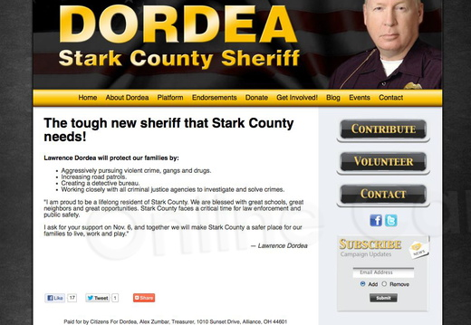 Lawrence Dordea for Stark County Sheriff