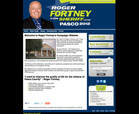 Roger Fortney for Pasco County Sheriff