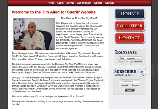 Tim Allen for Roanoke City Sheriff