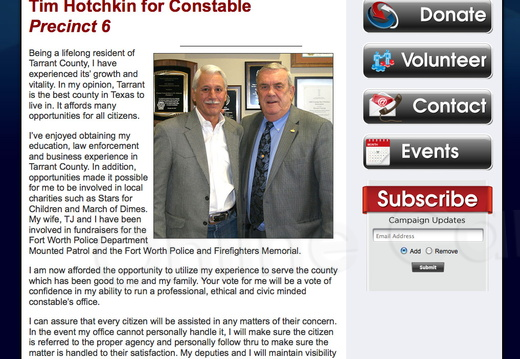 Tim Hotchkin for Tarrant County Constable - Precinct 6