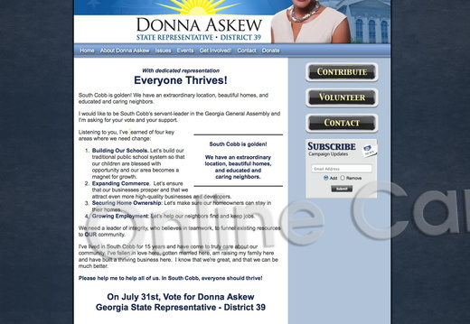 Donna Askew for Georgia State Representative - District 39