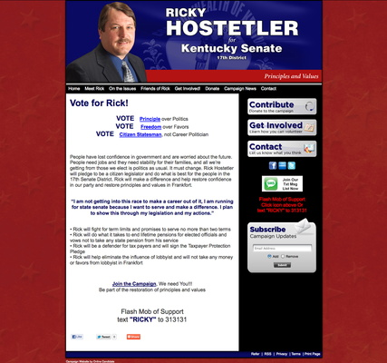 Ricky Hostetler for Kentucky Senate - 17th Disctrict