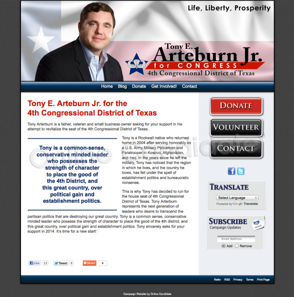 Tony E Arteburn Jr for the 4th Congressional District of.png
