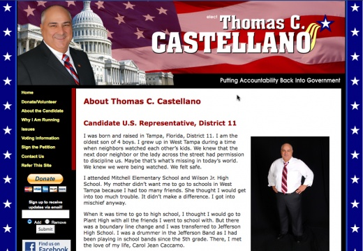 Thomas Castellano - US Congressional Election