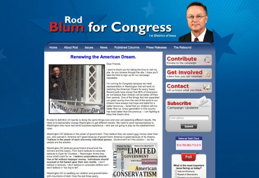 Rod Blum for Congress 1st Disctict of Iowa