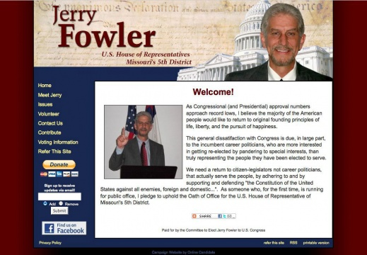 Jerry Fowler for US House of Representatives Missouri\'s 5th District
