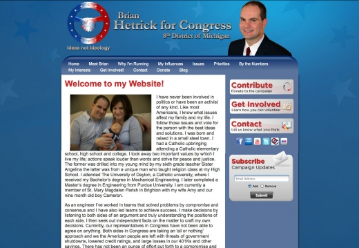 Brian Hetrick for Congress - 8th District of Michigan